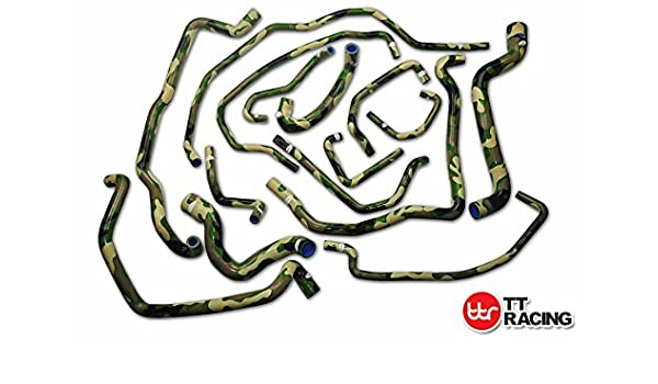 Amazon.com: Silicone Water Radiator Hose Kit Camo Green Fits Renault R5 5 GT TURBO Phase 2 85-91: Automotive