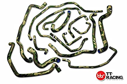 Silicone Water Radiator Hose Kit Camo Green Fits Renault R5 5 GT TURBO Phase 2 85