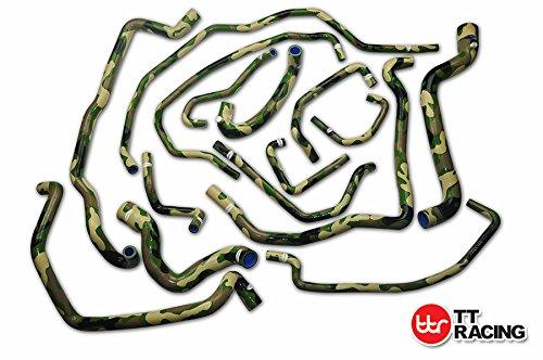 Silicona agua del radiador Manguera Kit Camuflaje Verde para Renault R5 5 GT Turbo Fase 2 85 - 91: Amazon.es: Coche y moto