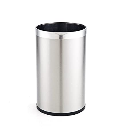 Amazoncom Trash Can Stainless Steel 8l 13l 18l Single