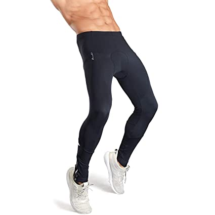 d79d2917c6294 Przewalski Men Bike Pants, Long Thermal 7D Padded Cycling Tights Leggings  Brushed Fleece Breathable