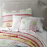 XUEXIN Reversible Washable Quilt Set,1pc Quilt 1pc Sham 1pc cushion 100% Polyester Birds In Love