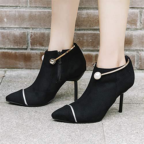 Tacones Botas Zapatos Punta de Botas e Moda Punta Zapatos Sandalette Mujer DEDE 64cc2a