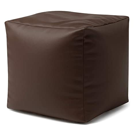 Groovy Bean Bag Bazaar Cube Faux Leather Footstool 38Cm X 38Cm Beanbag Foot Stool For Living Room Or Bedroom Beatyapartments Chair Design Images Beatyapartmentscom