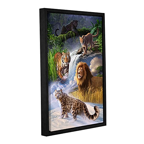 ArtWall Jerry Lofaro Big Cats Gallery-Wrapped Floater-Framed Canvas Artwork