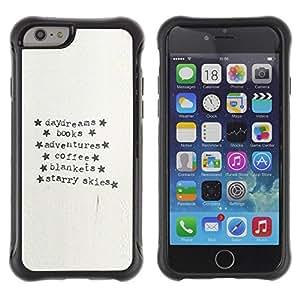 Paccase / Suave TPU GEL Caso Carcasa de Protección Funda para - Typewriter Paper Adventure Text Stars - Apple Iphone 6 PLUS 5.5
