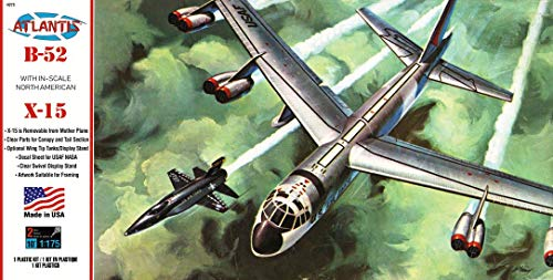 B-52 with X-15 Model Kit 1/175 Atlantis Toy and Hobby