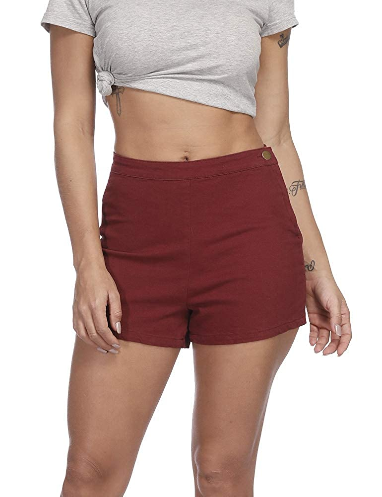 Amazon.com: Zaoqee Pantalones cortos vaqueros de cintura ...