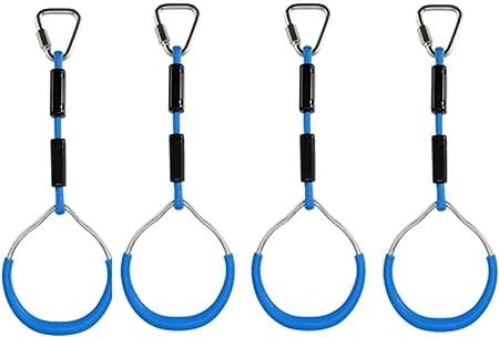 Anillas de escalada para niños, multifuncionales, dispositivo de escalada para niños, columpio con anillas de plástico para colgar, soporta hasta 120 ...