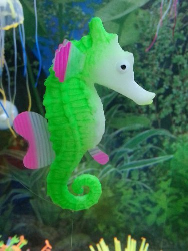 Glowing efecto Artificial adorno de caballito de mar para acuario pecera (verde): Amazon.es: Hogar