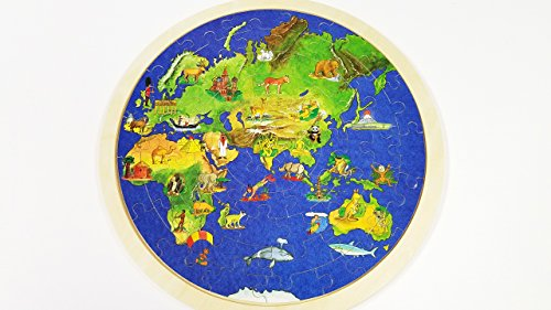 Puzzle world map wooden childrens educational early childhood puzzle world map wooden gumiabroncs Images