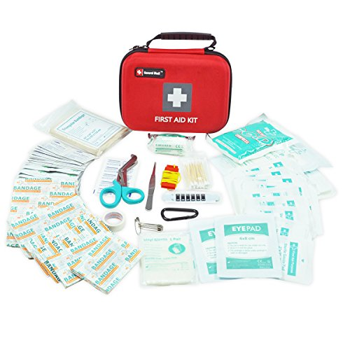 First Aid Kit,210 Pieces Survival Kit Bag - Includes Instant Cold Pack,Thermometer,Scissors,Bandages,Whistle for Travel, Home, Office, Vehicle,Camping, Workplace & Outdoor (Red) by General Medi (Image #1)