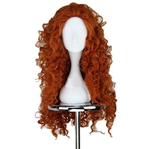 Price comparison product image Xcoser Long Curly Princess Merida Cosplay Wig for Cosplay