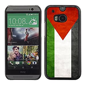 Shell-Star ( National Flag Series-Palestine ) Snap On Hard Protective Case For All New HTC One (M8)