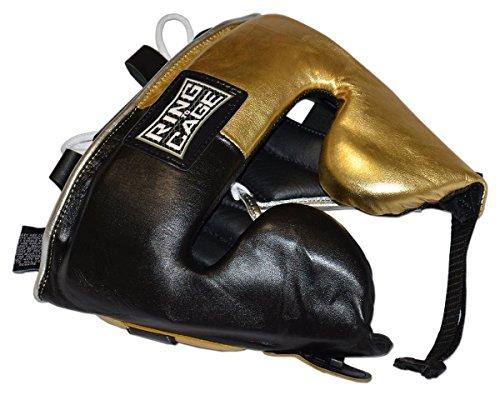 Japanese-Style Training Headgear - Metallic Gold/Black (Large)