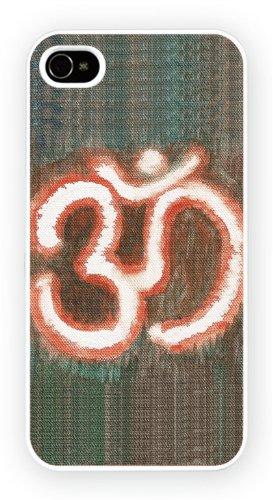 Aum Om Symbol1 Art Design, iPhone 4 4S, Etui de téléphone mobile - encre brillant impression