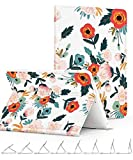 GVIEWIN Compatible for iPad Mini 1 2 3 Case - Slim Fit Floral Pattern Series Adjustable Multiple Stand Angles with Auto Sleep Wake - All Round Protect Cover for iPad Mini 1 2 3 - Flowering Red