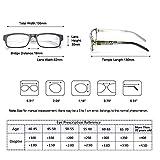 Kerecsen 5 Pack Fashion Unisex Reading Glasses Spring Hinge Pattern Design Readers (5 Pack Mix Color, 2.0)