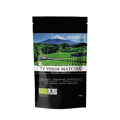 Naturseed Té Matcha Organico Premium en Polvo, 100gr, Bio Ecológico Japones, Para Beber