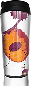 12 oz Tumbler with Lid Honey Bees Flying Away From Beehive Fabulous Coffee Cups for Women Men Travel Mugs Birthday Friends Gifts