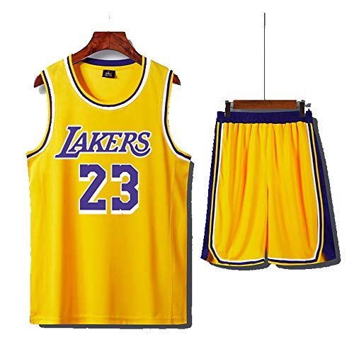 (LANREN Men's Basketball Jersey #23 James Tank Top Sleeveless T-Shirt and Pants Parent-Child Wear (XS-5XL))