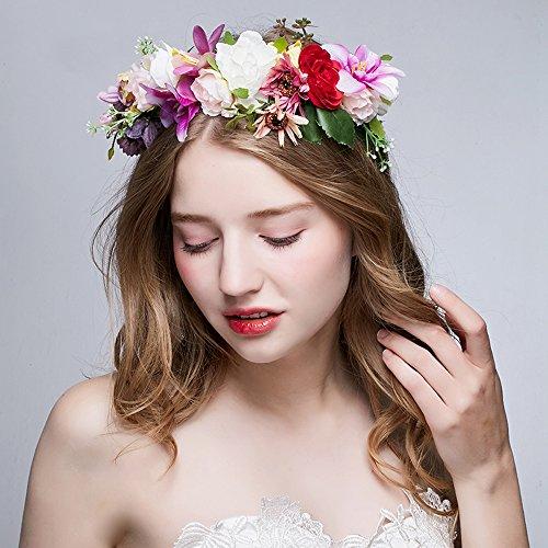 Blumen Stirnbänder Krone Haar Kranz  Garland für Foto Fotografie