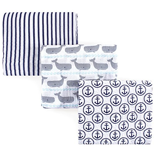 Hudson Baby 3 Piece Swaddle Blankets product image