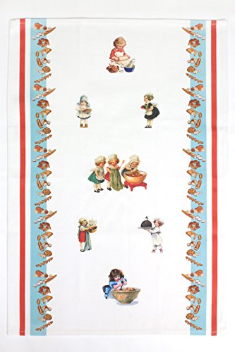 Vintage Baking Babies Kitchen Towel Tea Towel by Crystal Griffin Home