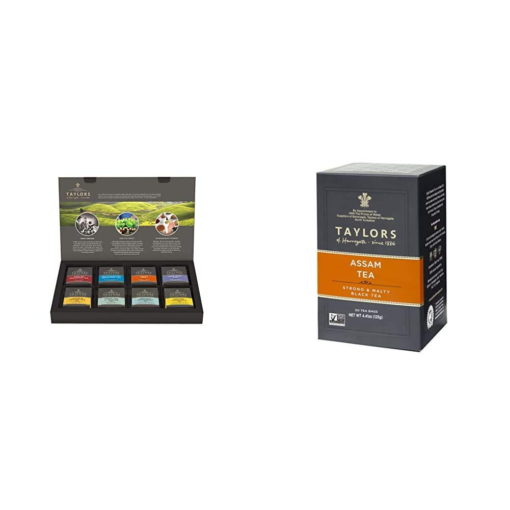 Taylors of Harrogate Classic Tea Variety Box, 48 Count (Pack of 1) & Pure Assam, 50 Teabags