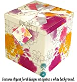 Gift Box 10''X10''X10'' - Carmen Collection - Easy to Assemble & Reusable - No Glue Required - Ribbon, Tissue Paper, and Gift Tag Included - EZ Gift Box by Endless Art US