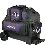KR Strikeforce Baltimore Ravens Double Roller Bowling Bag, Multicolor