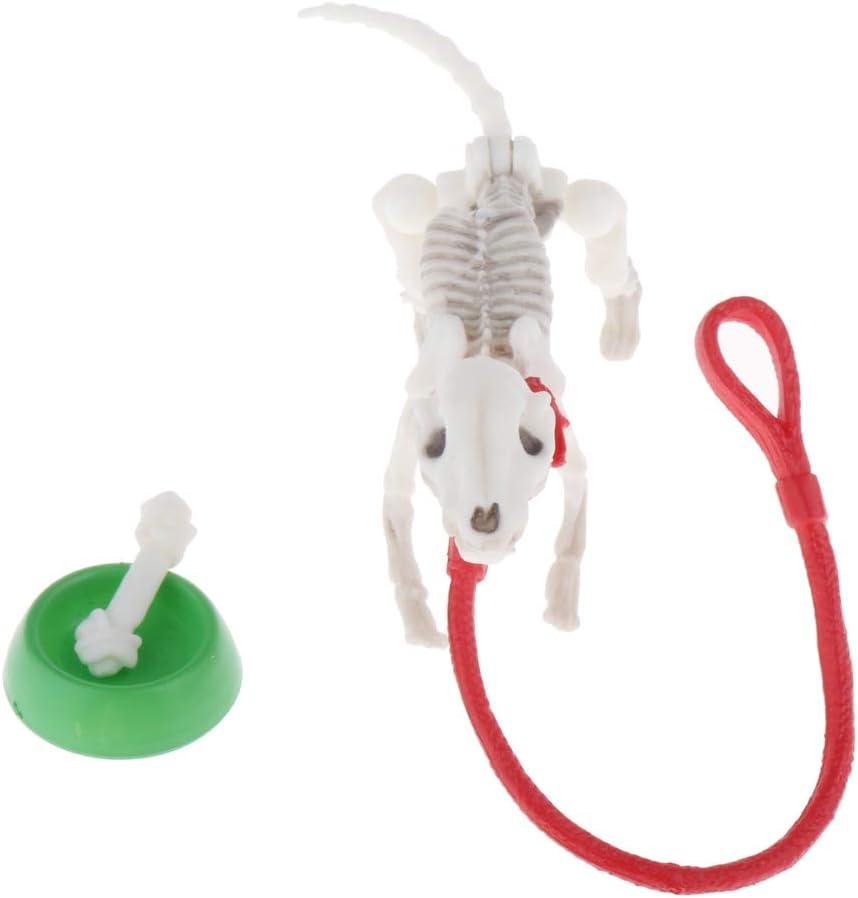 CUTICATE Esqueleto de Animal Realista, Decoraciones De Esqueleto De Perro De Halloween Modelo De Huesos De Marioneta Accesorios De Fotos Decoraciones Navideña