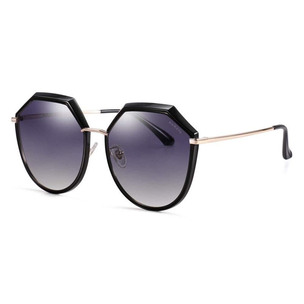 D Sunglasses, Polygonal Large Frame Retro Polarized Lady Sunscreen UV Predection Sunglasses