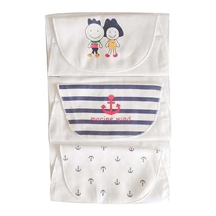 Juego de 3 toallas de mano de gasa Soft Cotton Baby Sweat Absorbent Toallas de mano