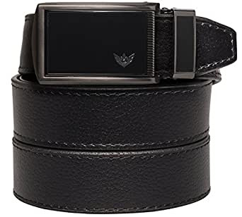 SlideBelt - Winged Black (Black Leather with Winged Black Buckle)