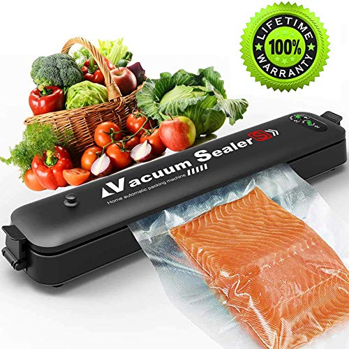 Updated 2019 Version Vacuum Sealer Machine,2 IN 1 Vacuum Sealing System with 15 Pcs Vacuum Bags,Automatic Food Sealer for Food Savers,Easy to Use & Clean | Safety Certified (Black) (Best Vacuum Sealer 2019)