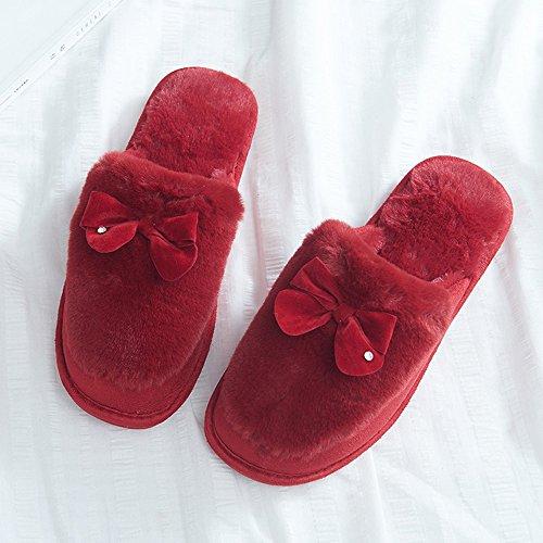 Farbe mit Hausschuhe D Größe 40 5 40 Schuhe Hausschuhe Paket 39 größe Kinderpflege optional 41 optional Warmes Winter Hausschuhe der Damen Farben YqwEZZ