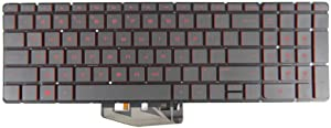 New Keyboard for HP Omen 17-W 15-AX 15-an SG-80750-XBA 835664-001 V150646LS1 9Z.NC8BQ.701 with Backlit Red US