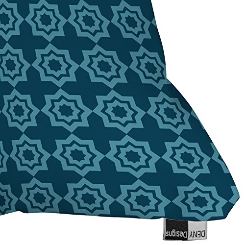 DENY Designs Khristian A Howell Moroccan Mirage Blue Outdoor Throw Pillow, 20 by 20-Inch