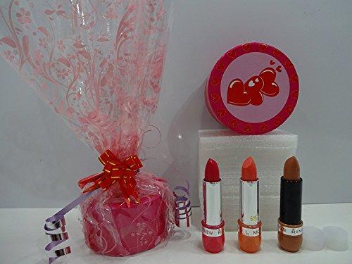 Sale Price ~ Rimmel London Lipstick x 3 Lot - 1 x Rimmel Moisture Renew Lipstick 130 Oxford Street Fuchsia + 1 x Rimmel Lasting Finish Lipstick 128 Starry-Eyed + - Oxford Stores London Street
