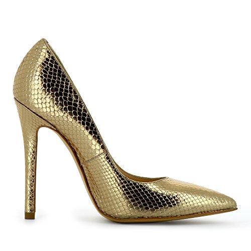 Evita Shoes Lisa - Zapatos de vestir de Piel para mujer dorado
