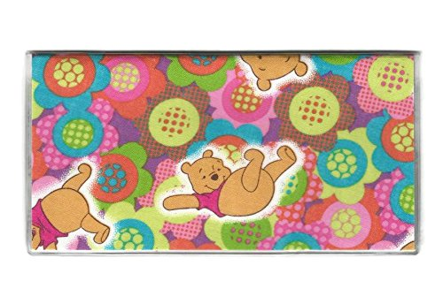 Tickled Pink Boutique Women's Winnie the Pooh Flowers Checkbook Cover Multicoloured