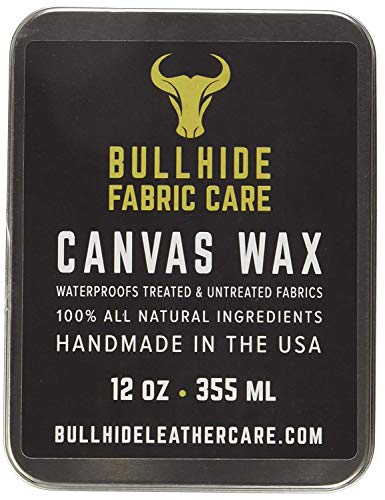 Canvas Wax 12 oz - Natural Canvas Wax for Heavy Fabric Items - Made in USA