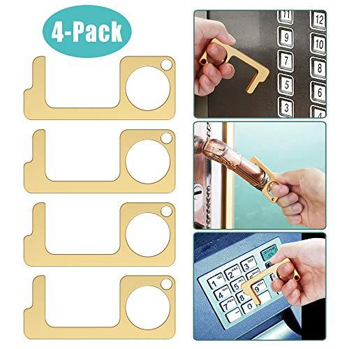 RGOSME No Touch Door Opener Tool Door Opener Tool No Touch Hand Tool Key EDC Door Opener Tool Button Pusher Door Opener…