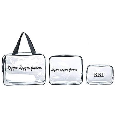 Greek Letter Before Kappa.Amazon Com Kappa Kappa Gamma Cosmetic Travel Bags I Set Of 3