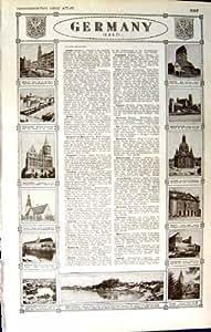 TILSIT 1922 DE DRESDEN BRESLAU OPPLEN DEL PLAN DE ALEMANIA DEL MAPA