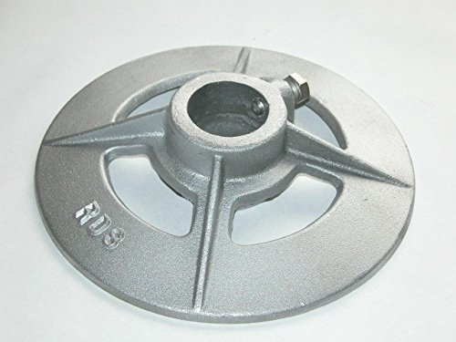 RDS Dock Hardware 1-1/2'' (1-7/8'') Pipe Base by RDS Dock Hardware