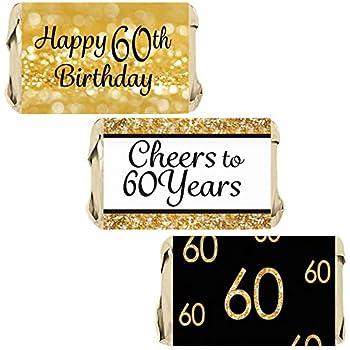 Amazon.com: Custom adulto 60 cumpleaños – oro ...