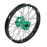 """ProTrax Complete Rear Wheel Rim 19""""X 2.15 Green Hub KAWASAKI KX250F 2004-2017"""