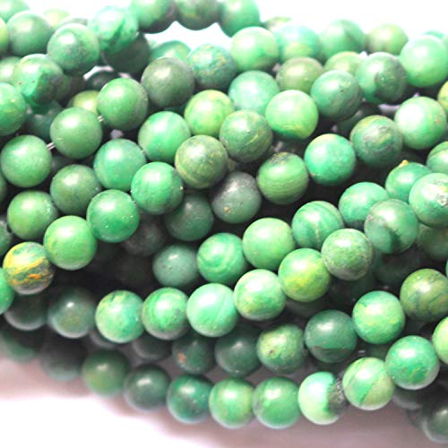 (Tacool Natural Gemstone Beads Round 8mm 6mm for DIY Necklace Jewelry Making Beads (Green Jade, Matte 6mm))